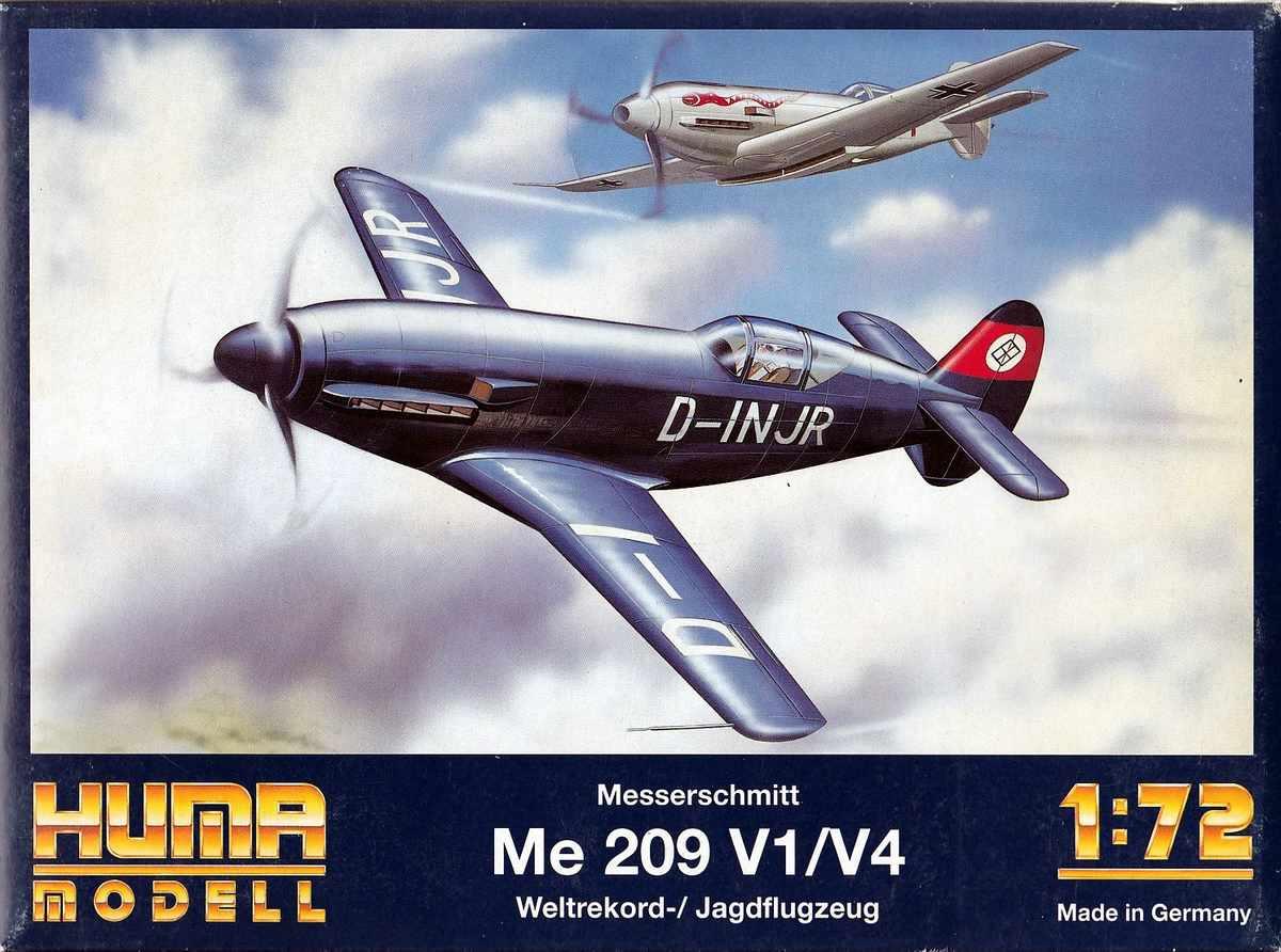 HUMA-Me-209-5 Messerschmitt Me 209 V1/V4 im Maßstab 1:72 von HUMA