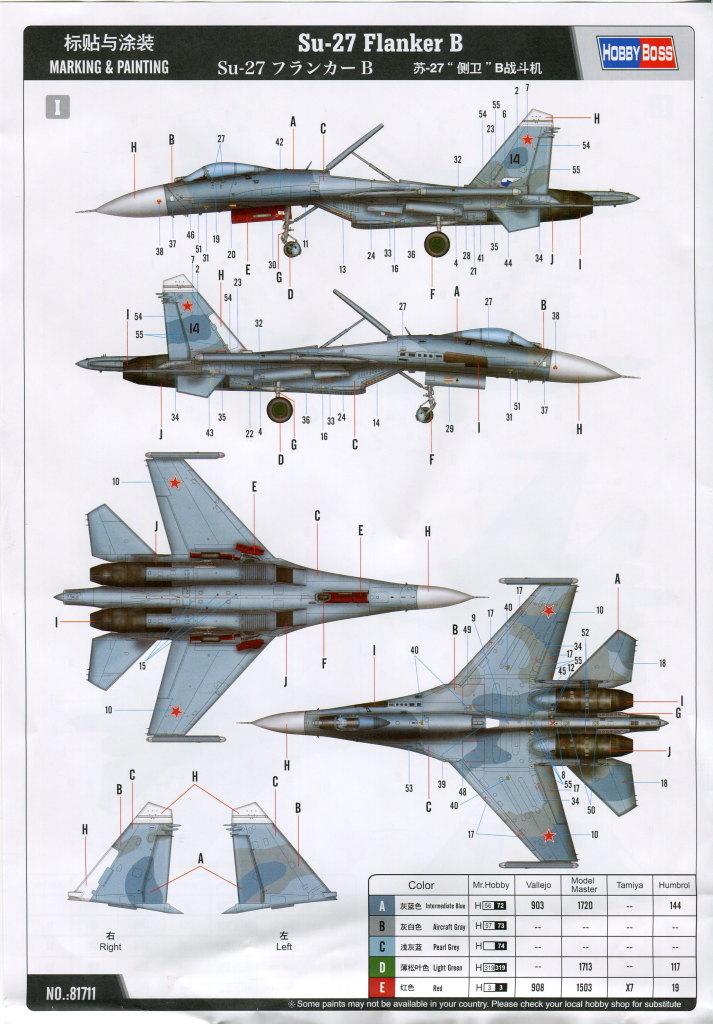 Hobby-Boss_Su-27_67 Su-27 Flanker B - Hobby Boss 1/48 --- 81711