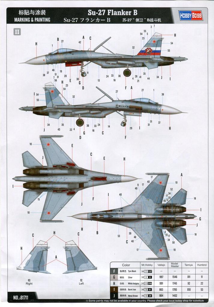 Hobby-Boss_Su-27_68 Su-27 Flanker B - Hobby Boss 1/48 --- 81711