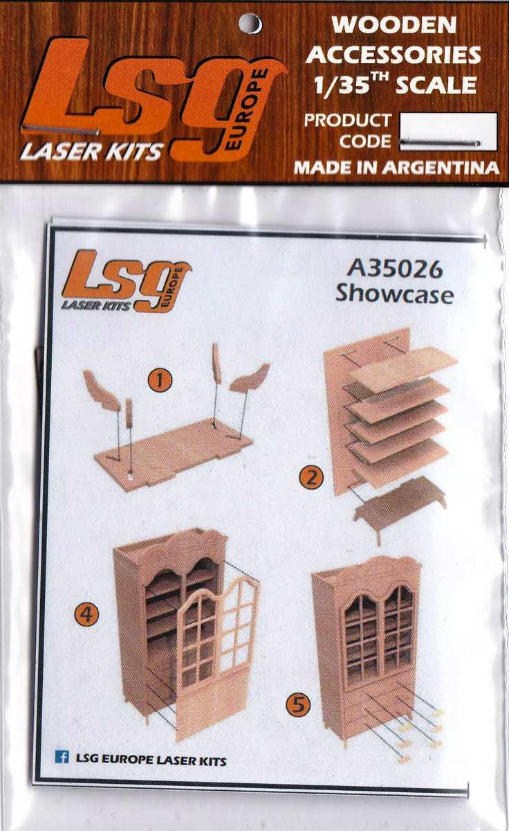LSG-A-35026-Showcase-1 Wooden Showcase 1:35 von LSG Laser Kits über Yenmodels