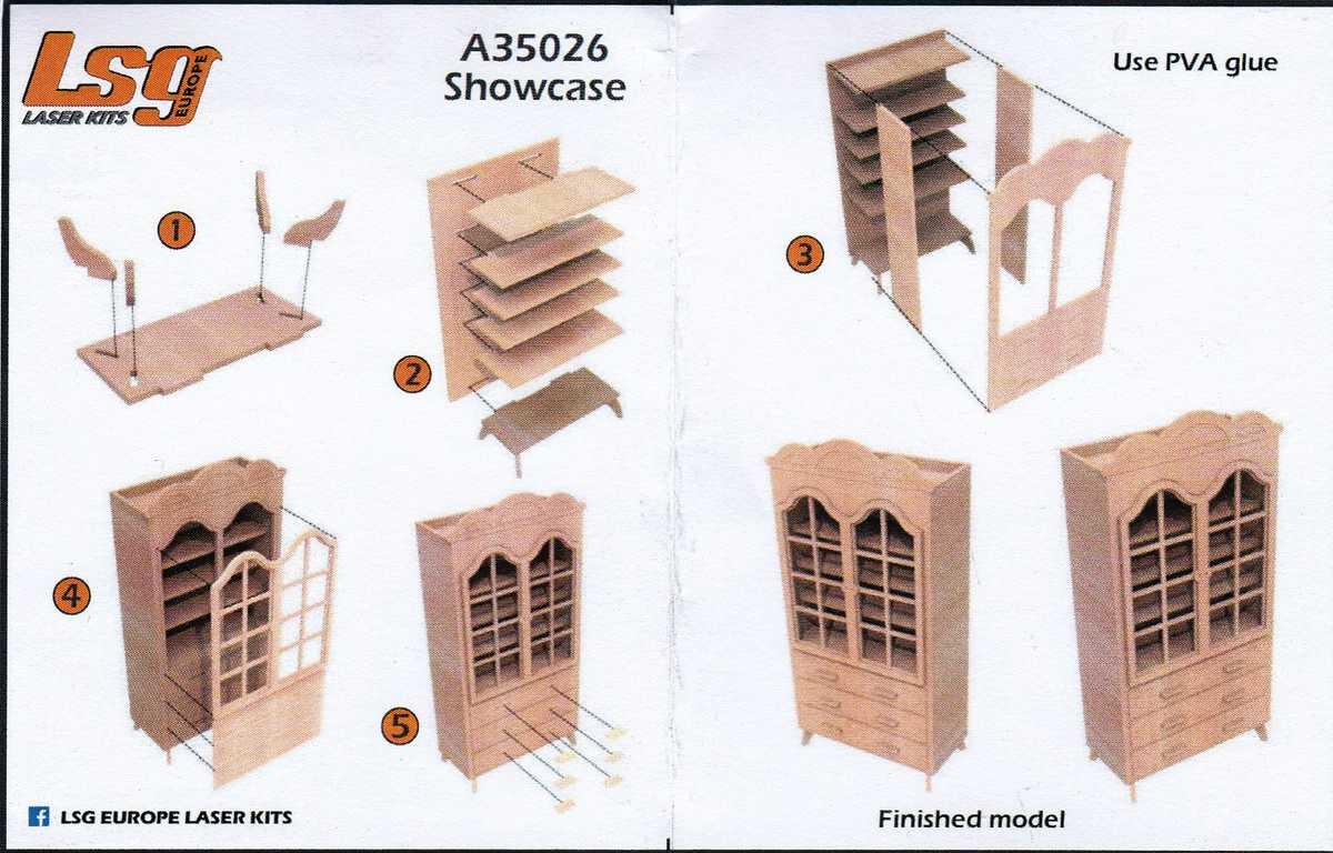 LSG-A-35026-Showcase-2 Wooden Showcase 1:35 von LSG Laser Kits über Yenmodels