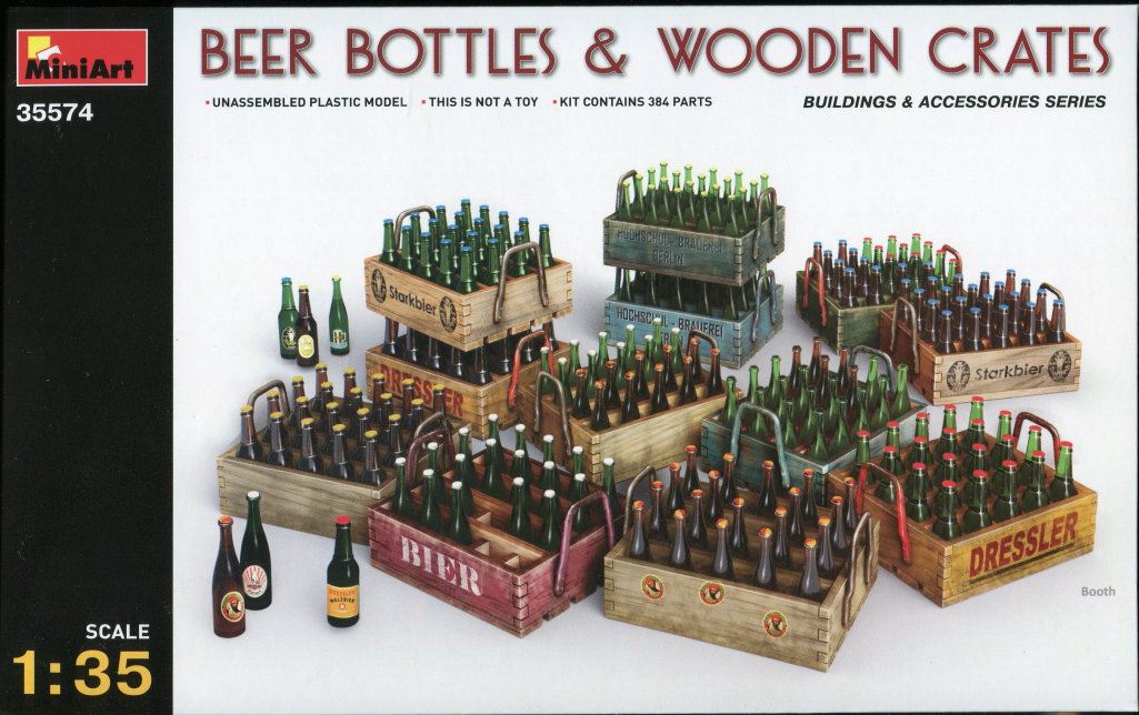 MiniArt_Beer-Bottles-and-Crates_08 Beer Bottles and Crates - MiniArt - 1/35  ---  35574