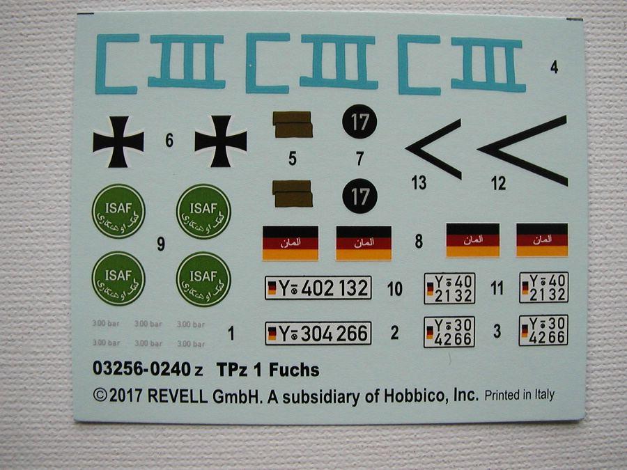 "Revell-03256-TPz-Fuchs-11 Transportpanzer ""Fuchs"" von Revell im Maßstab 1:35 ( 03256 )"