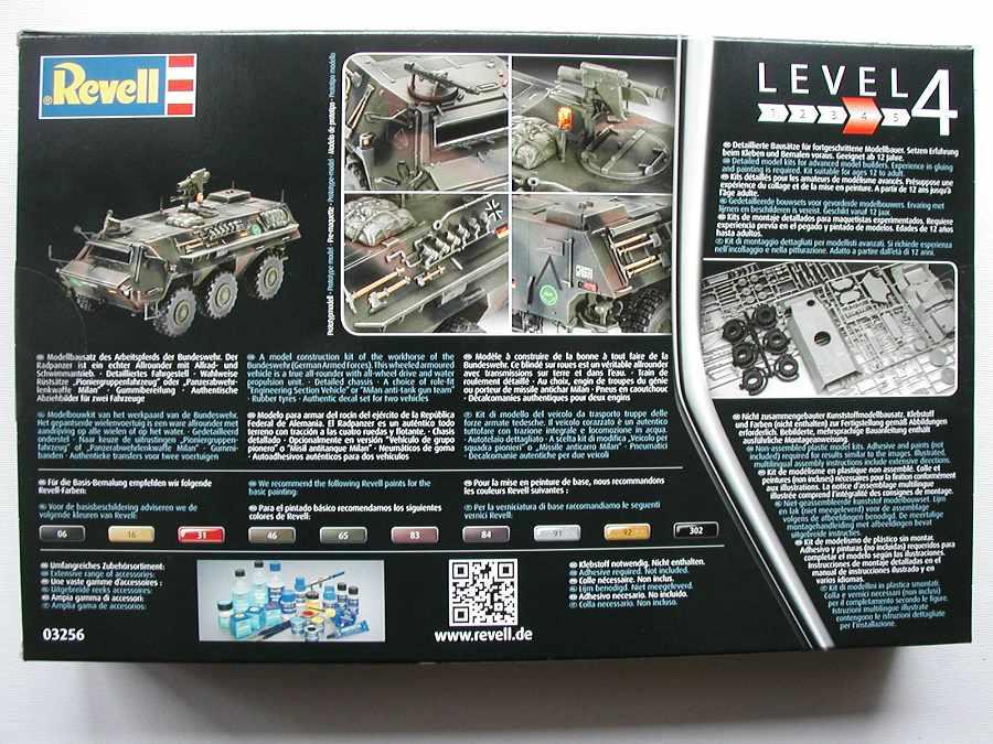 "Revell-03256-TPz-Fuchs-2 Transportpanzer ""Fuchs"" von Revell im Maßstab 1:35 ( 03256 )"