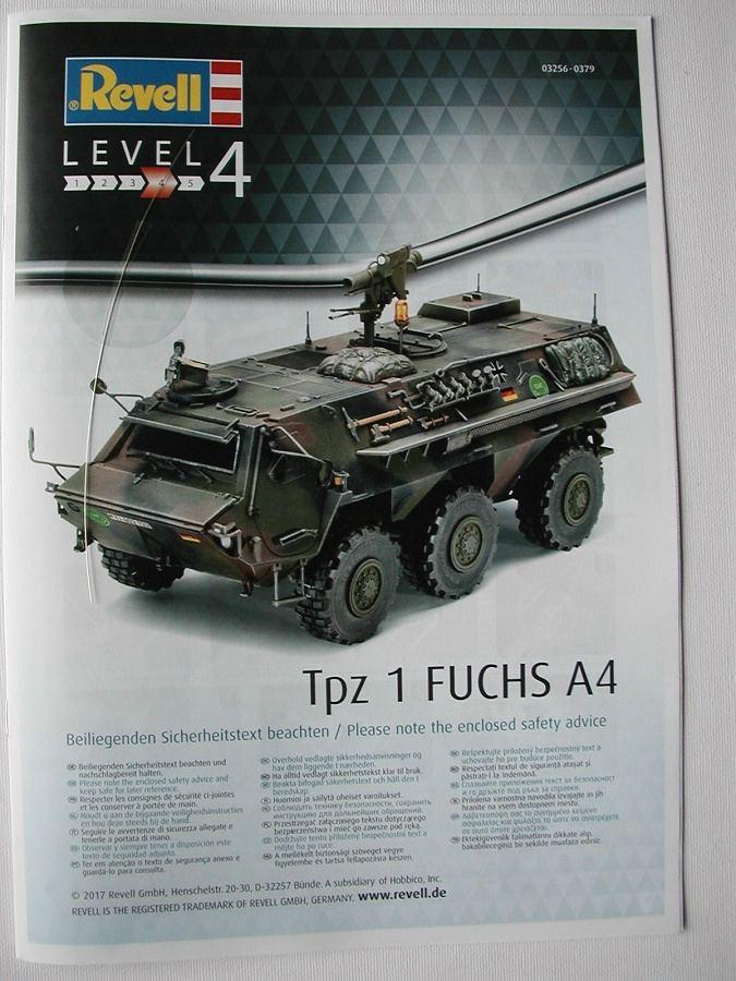 "Revell-03256-TPz-Fuchs-6 Transportpanzer ""Fuchs"" von Revell im Maßstab 1:35 ( 03256 )"