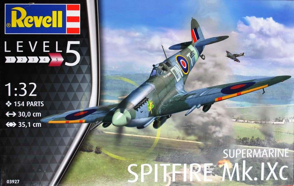 Revell-03927-Spitfire-Mk.-IXc-DEckelbild Spitfire Mk. IXc von Revell im Maßstab 1:32 ( 03927 )