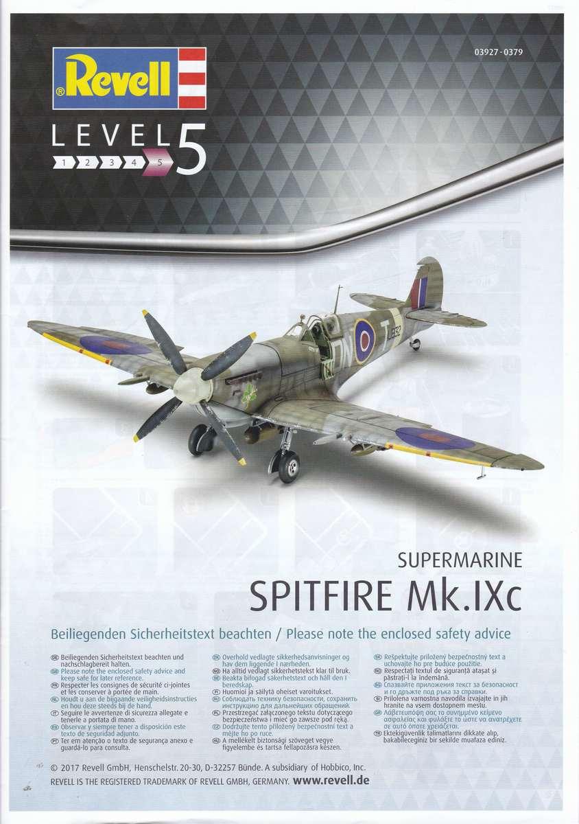 Revell-03927-Spitfire-Mk.-IXc-bauanleitung-8 Spitfire Mk. IXc von Revell im Maßstab 1:32 ( 03927 )