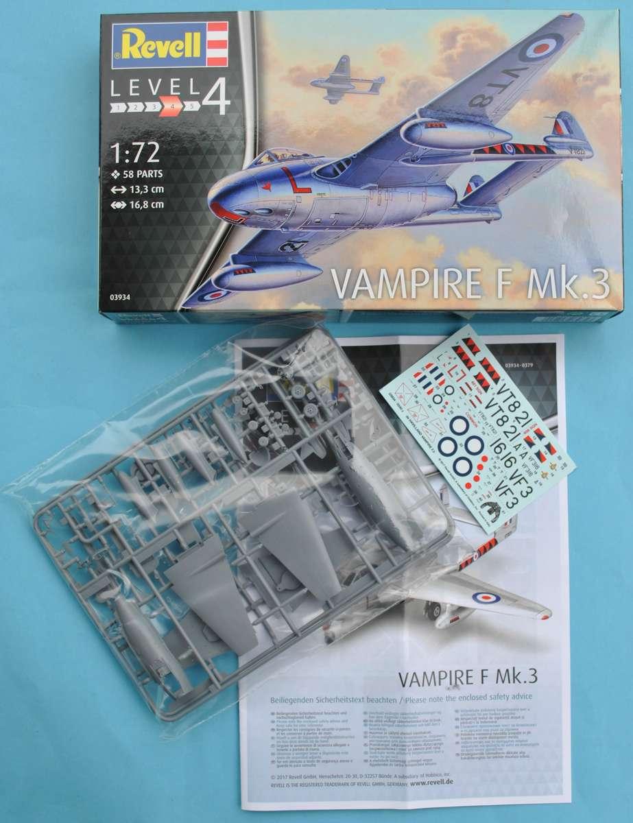 Revell-03934-Vampire-F-Mk.-3-12 de Havilland Vampire F Mk. 3 von Revell im Maßstab 1:72