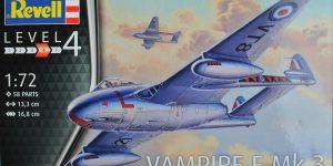 de Havilland Vampire F Mk. 3 von Revell im Maßstab 1:72