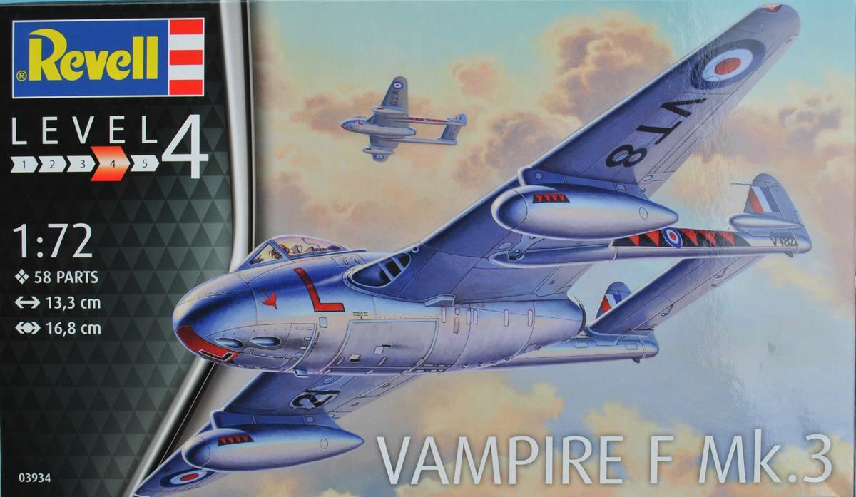 Revell-03934-Vampire-F-Mk.-3-2 de Havilland Vampire F Mk. 3 von Revell im Maßstab 1:72