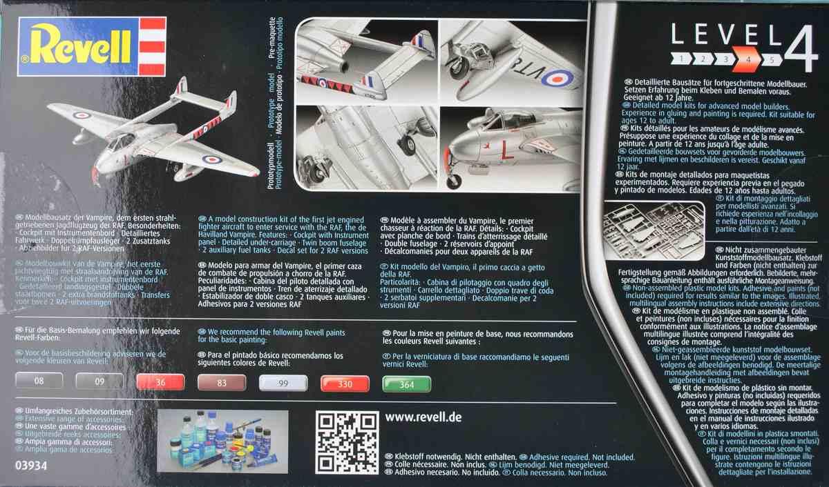 Revell-03934-Vampire-F-Mk.-3-3 de Havilland Vampire F Mk. 3 von Revell im Maßstab 1:72