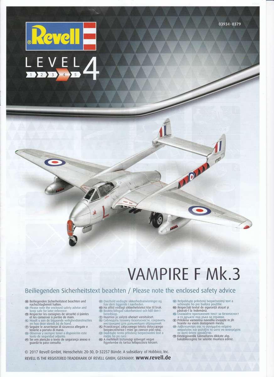Revell-03934-Vampire-F-Mk.-3-4 de Havilland Vampire F Mk. 3 von Revell im Maßstab 1:72