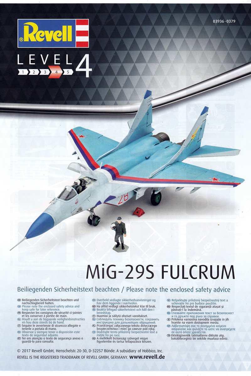 Revell-03936-MiG-29S-1zu72-6 MiG-29S Fulcrum von Revell (1:72; # 03936 )