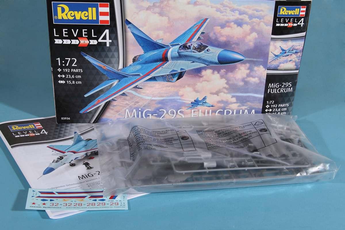 Revell-03936-MiG-29S-1zu72-9 MiG-29S Fulcrum von Revell (1:72; # 03936 )