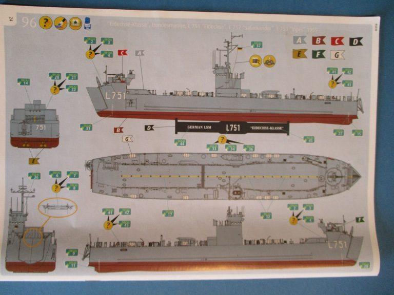 """Revell-05139-LSM-Eidechse-10-e1492249397591 Landungsschiff LSM """"Eidechse"""" von Revell im Maßstab 1:144"""