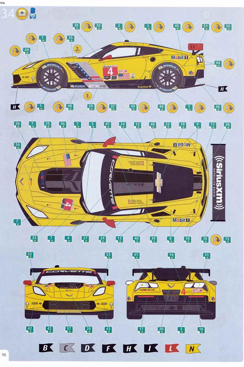 Revell-07036-Corvette-C.7R-46 Corvette 7R von Revell im Maßstab 1:25
