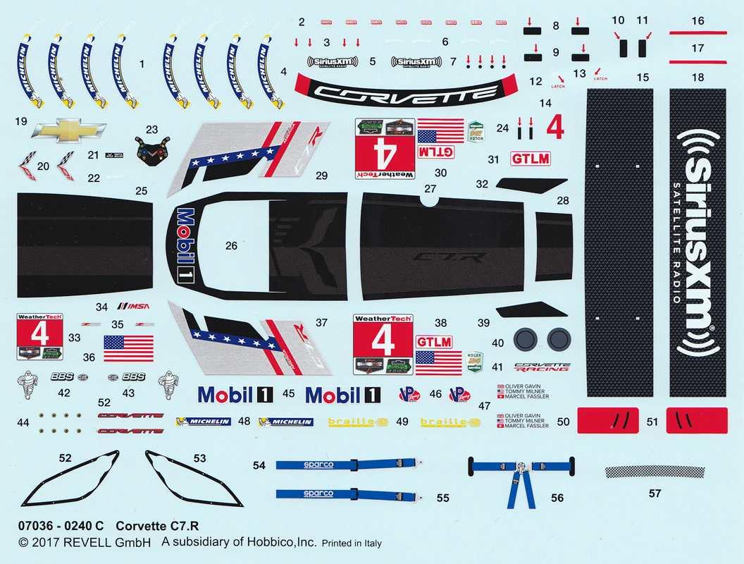 Revell-07036-Corvette-C.7R-47 Corvette 7R von Revell im Maßstab 1:25