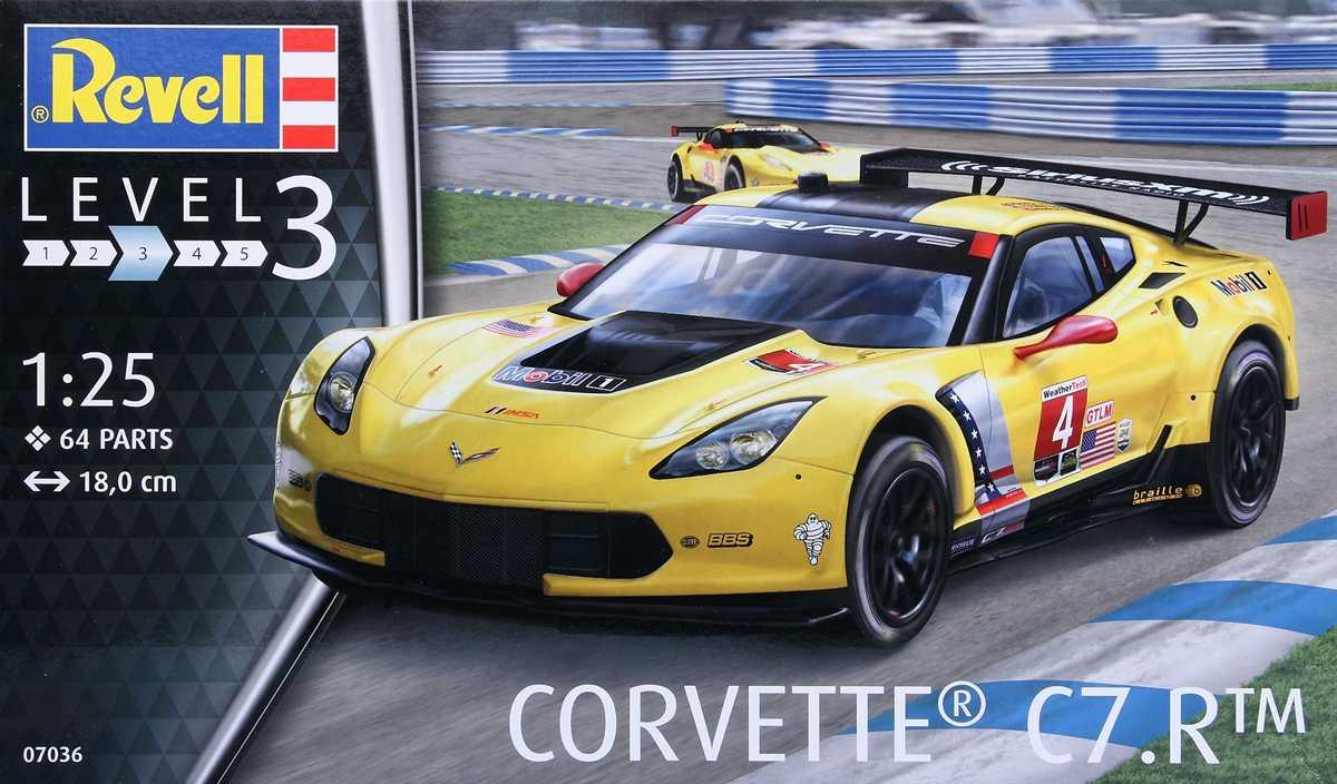 Revell-07036-Corvette-C.7R-51 Corvette 7R von Revell im Maßstab 1:25