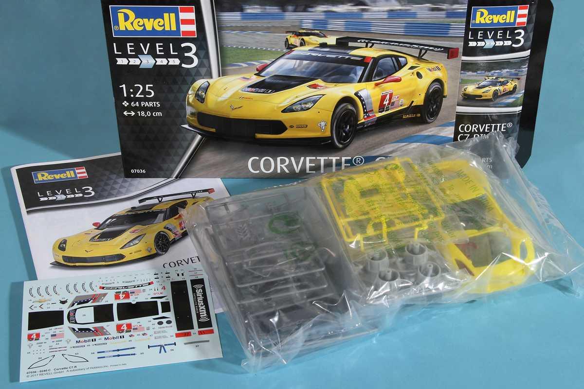 Revell-07036-Corvette-C.7R-53 Corvette 7R von Revell im Maßstab 1:25