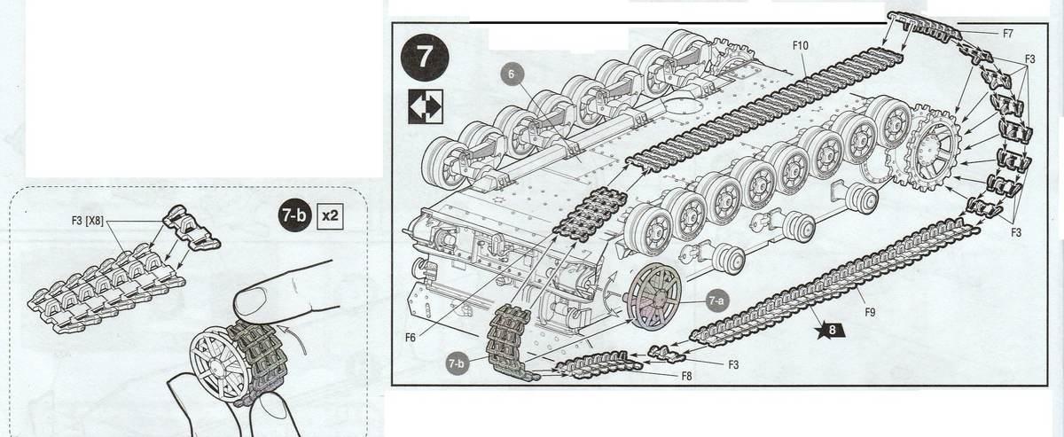 Zvezda-3620-PAnzer-IV-Ausf.-H-Ketten Panzer IV Ausf. H von ZVEZDA im Maßstab 1:35 ( # 3620 )