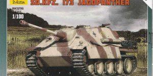 German heavy Tank Destroyer Jagdpanther von Zvezda im Maßstab 1:100