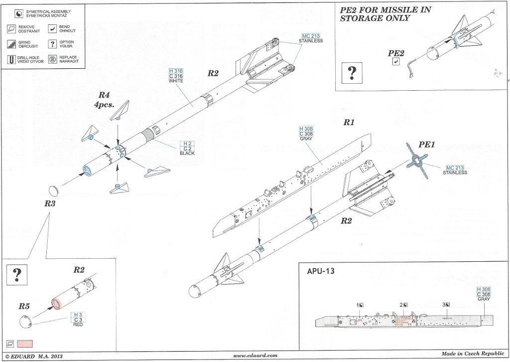 12-1024x726 R-3S / AA-2 Atoll-A Eduard 1:48 (#648125)