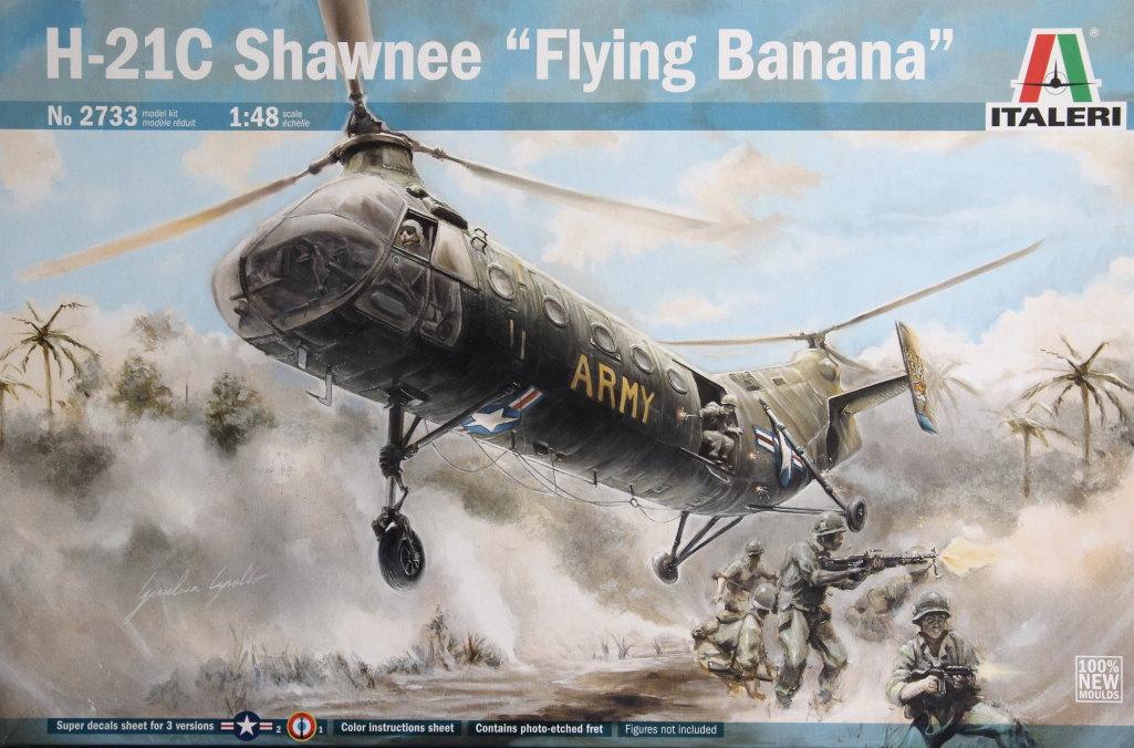 Italeri-H-21C_01 H-21C Shawnee 'Flying Banana' - Italeri 1/48  ---  #2733