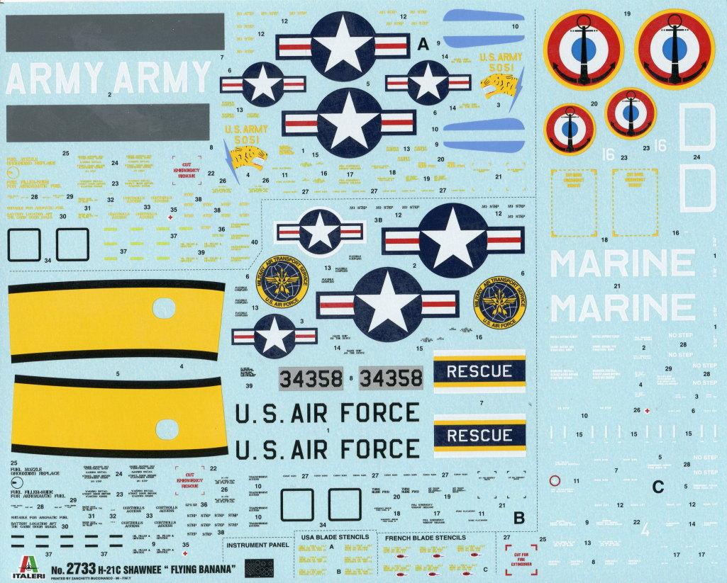 Italeri-H-21C_35 H-21C Shawnee 'Flying Banana' - Italeri 1/48  ---  #2733