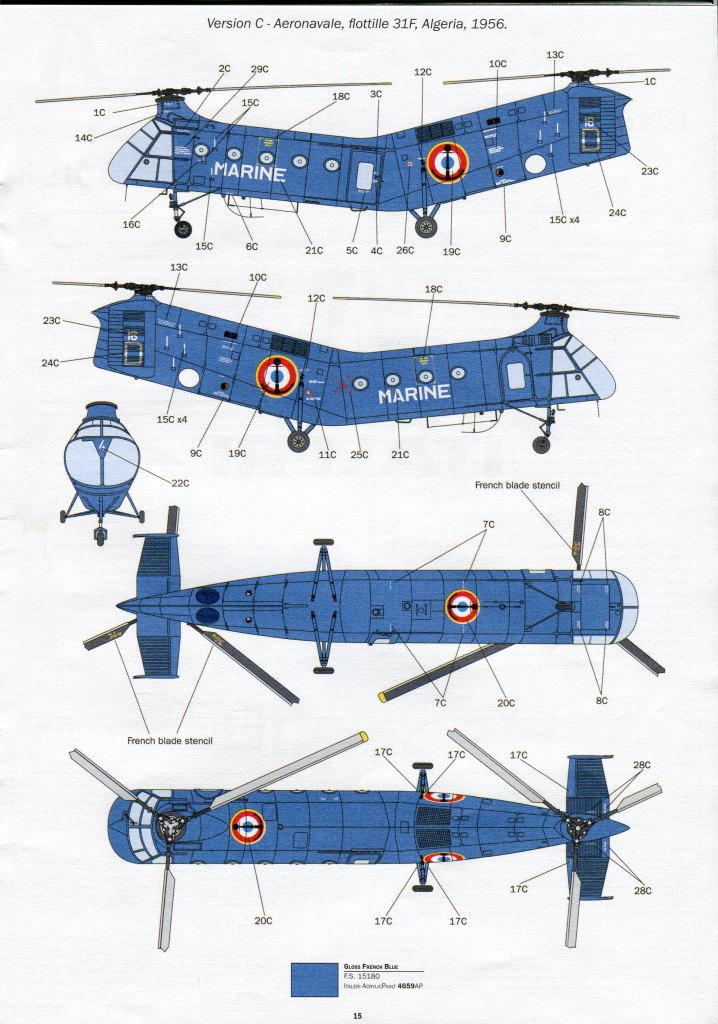 Italeri-H-21C_37 H-21C Shawnee 'Flying Banana' - Italeri 1/48  ---  #2733
