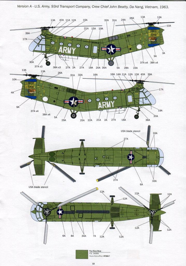 Italeri-H-21C_50 H-21C Shawnee 'Flying Banana' - Italeri 1/48  ---  #2733