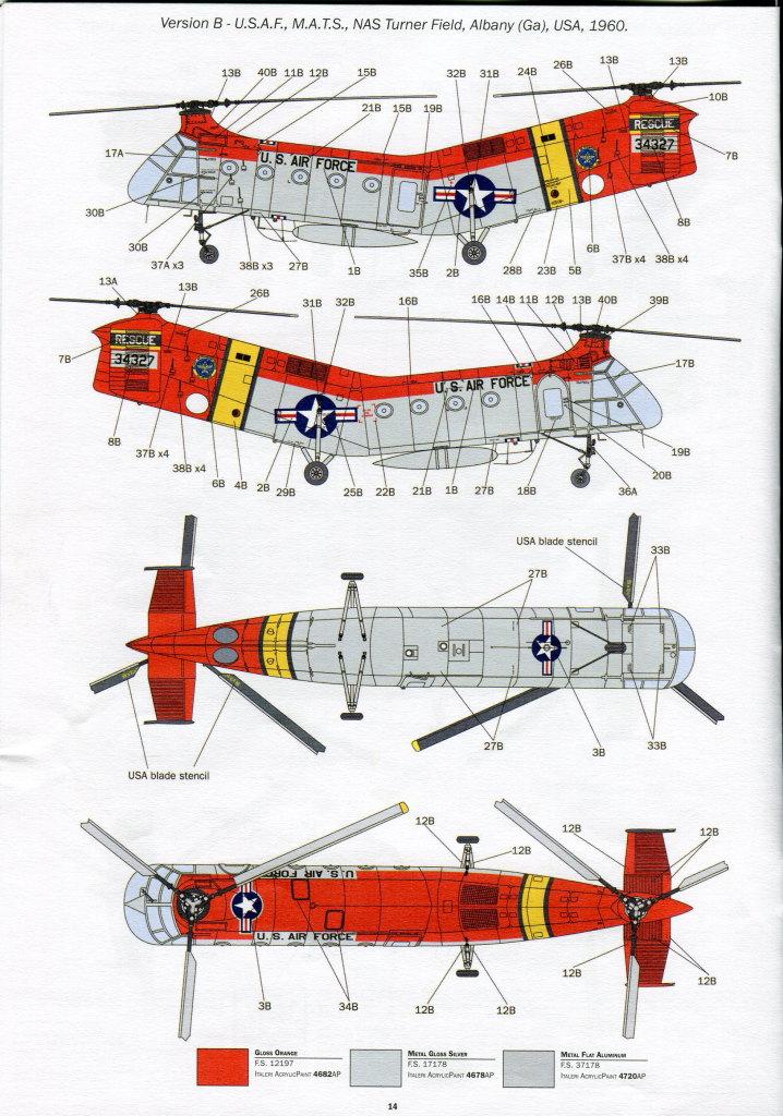 Italeri-H-21C_51 H-21C Shawnee 'Flying Banana' - Italeri 1/48  ---  #2733