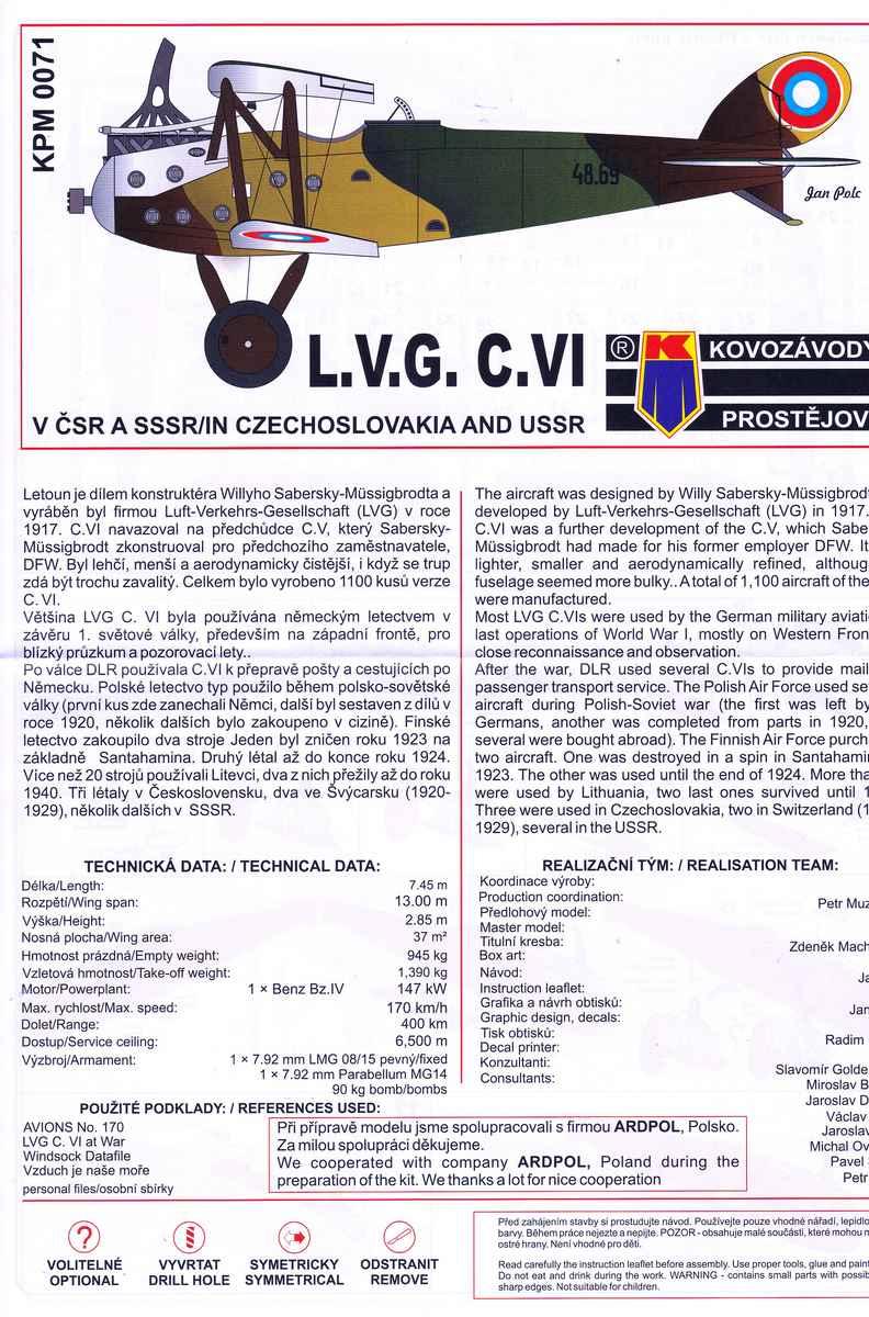 Kovozavody-LVG-C.VI-Czech-and-Russia-4 LVG C.VI von Kovozavody in 1:72