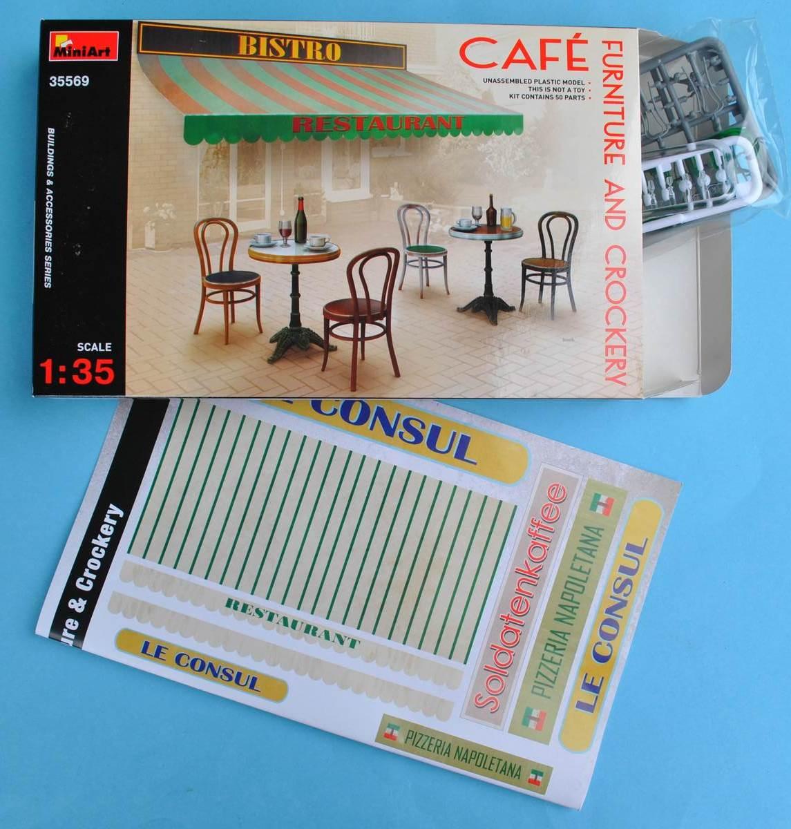 MiniArt-35569-Cafe-Furniture-and-Crockery-11 Café Furniture and crockery von MiniArt in 1:35 ( # 35569 )