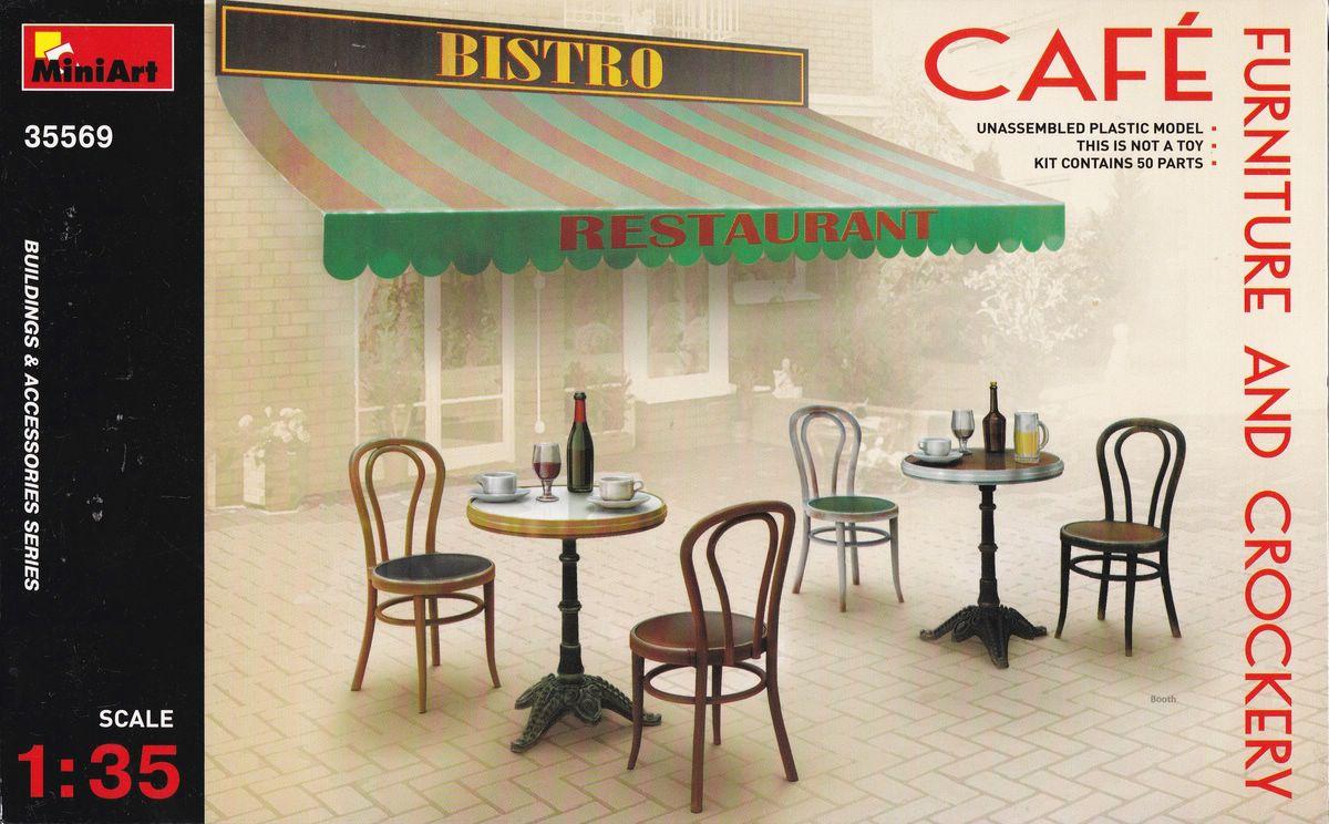MiniArt-35569-Cafe-Furniture-and-Crockery-9 Café Furniture and crockery von MiniArt in 1:35 ( # 35569 )