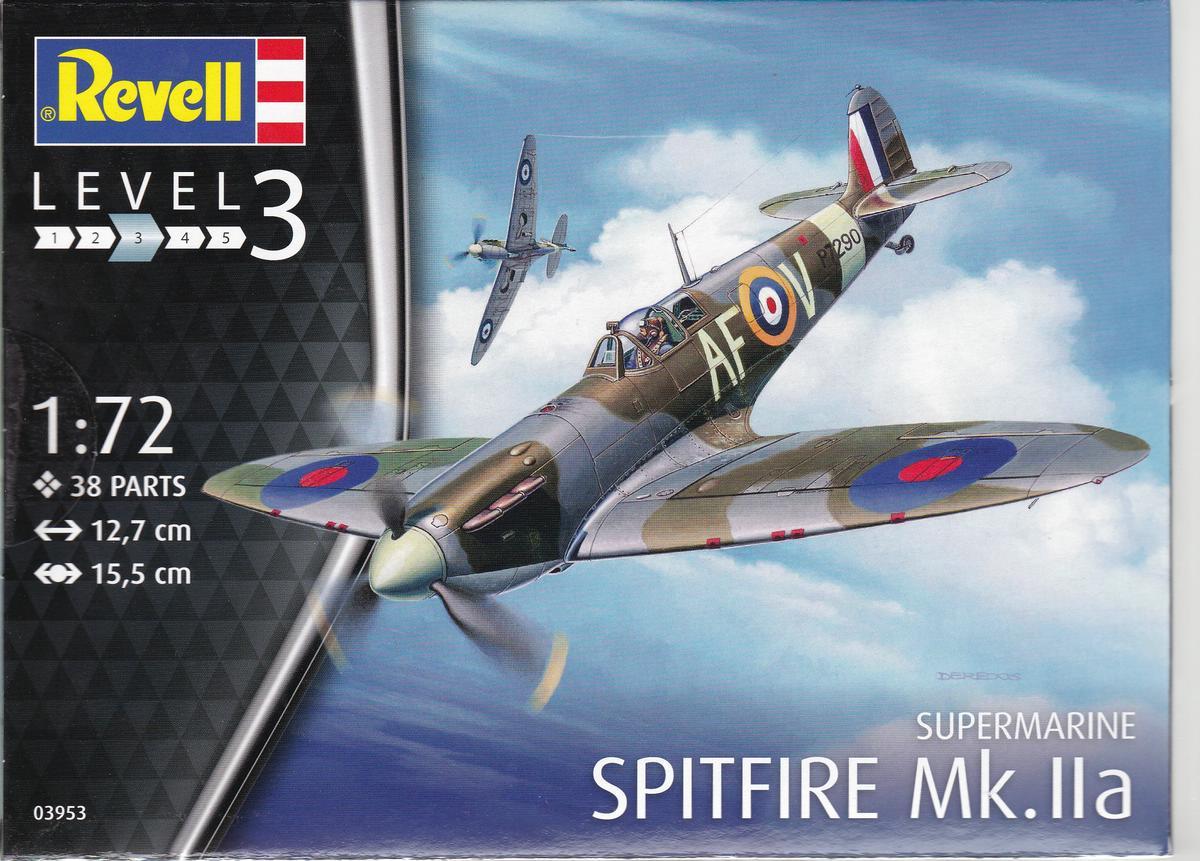 Revell-03953-Spitfire-Mk.-IIa-1zu72-30 Spitfire Mk.IIa im Maßstab 1:72 von Revell ( # 03953 )