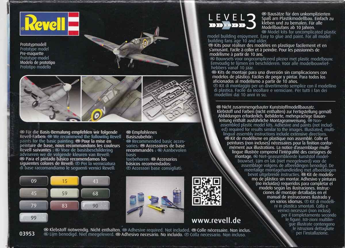 Revell-03953-Spitfire-Mk.-IIa-1zu72-31 Spitfire Mk.IIa im Maßstab 1:72 von Revell ( # 03953 )