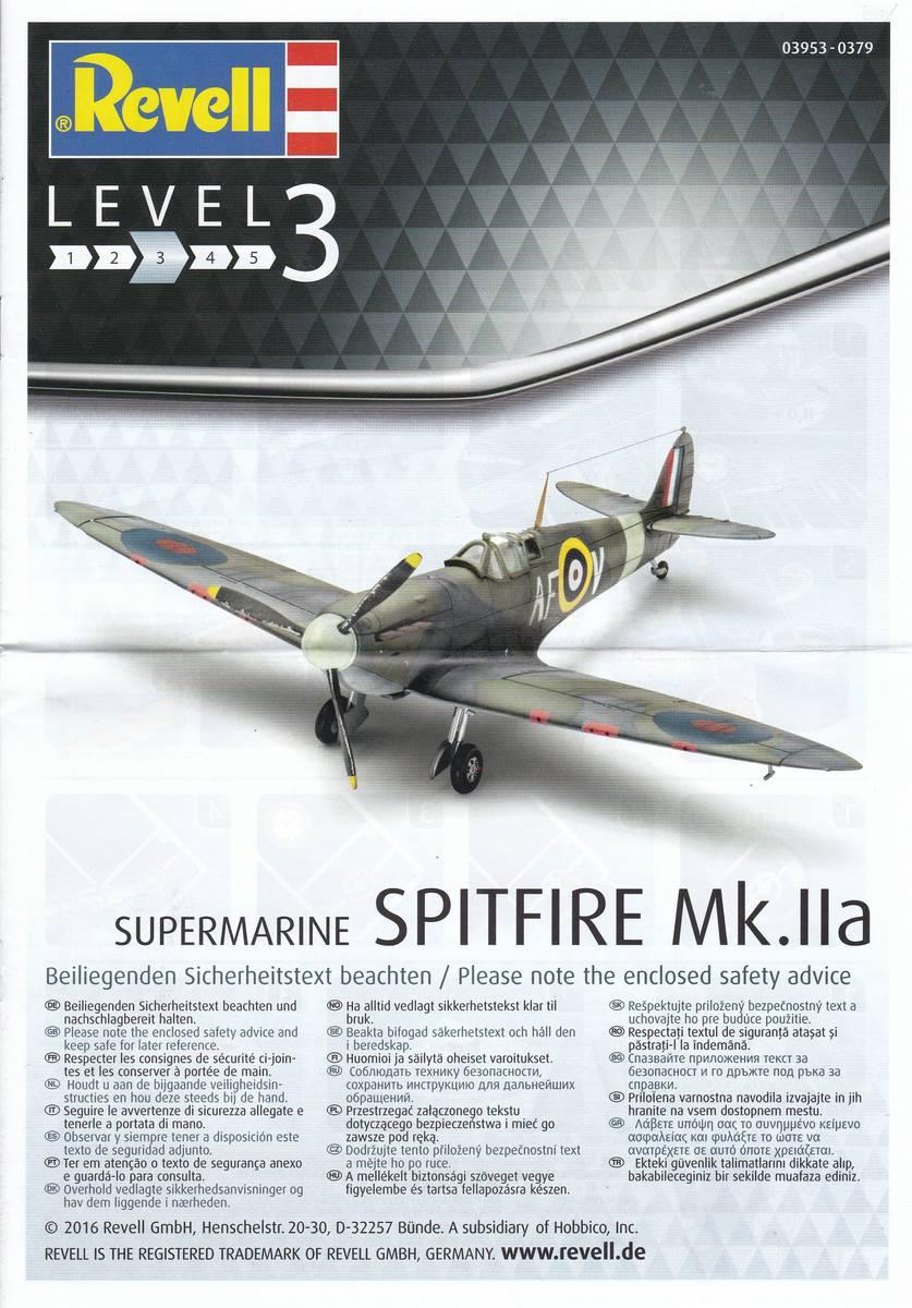 Revell-03953-Spitfire-Mk.-IIa-1zu72-32 Spitfire Mk.IIa im Maßstab 1:72 von Revell ( # 03953 )