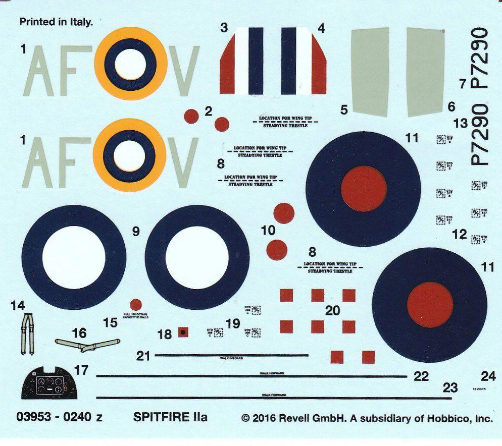 Revell-03953-Spitfire-Mk.-IIa-1zu72-40 Spitfire Mk.IIa im Maßstab 1:72 von Revell ( # 03953 )