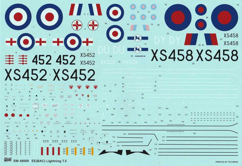 SWORD-SW-48009-BAE-Lightning-T.Mk-15 Lightning T.Mk.5 von SWORD in 1:48