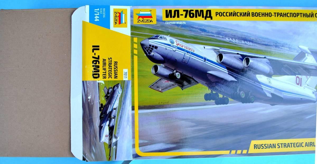 Zvezda-7011-Il-76MD-Schachtel-1 Iljuschin Il-76MD von Zvezda im Maßstab 1:144 (# 7011)