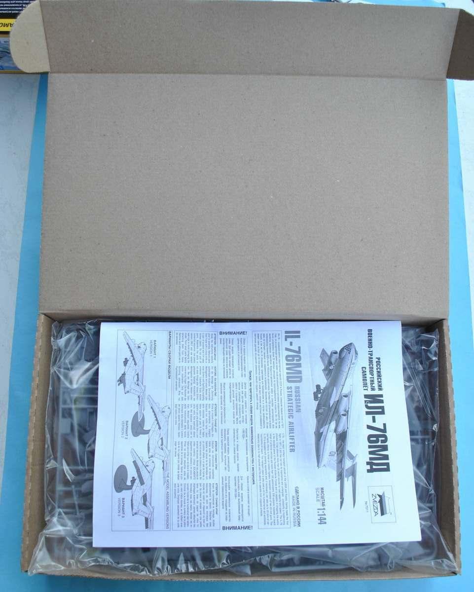Zvezda-7011-Il-76MD-Schachtel-4 Iljuschin Il-76MD von Zvezda im Maßstab 1:144 (# 7011)