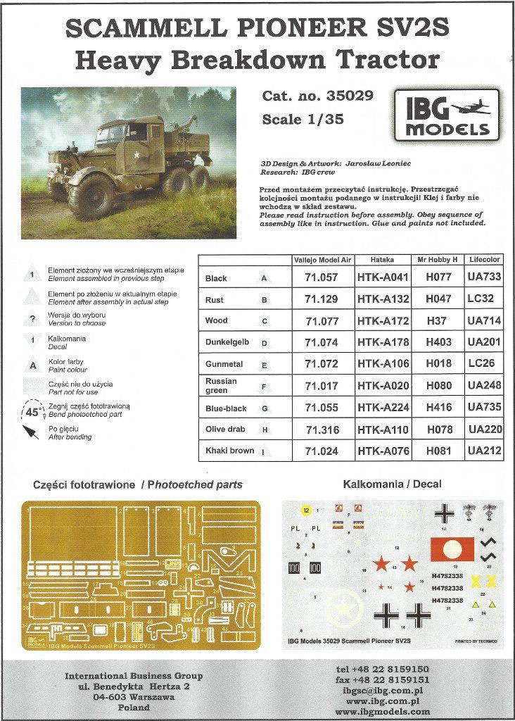 01-732x1024 Scammell Pioneer SV2S Heavy Breakdown Tractor IBG Models 1:35 (#35029)
