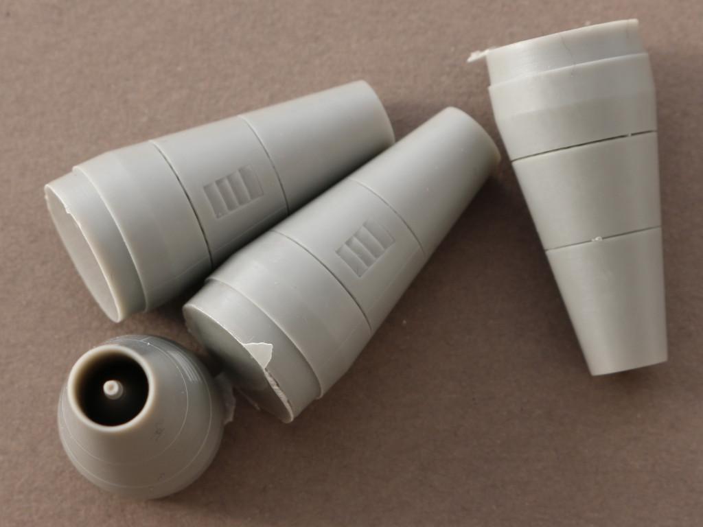 2-1 Exhaust pipes Boeing B 747/400 (Revell) 1:144 Brengun #BRL144099
