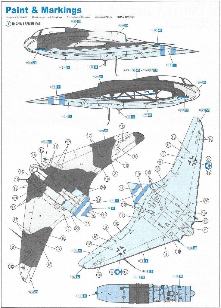6-734x1024 Horten Ho229A-1 Flying Wing 1:48 Dragon (#5505)