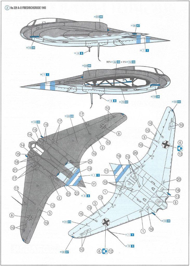 7-732x1024 Horten Ho229A-1 Flying Wing 1:48 Dragon (#5505)