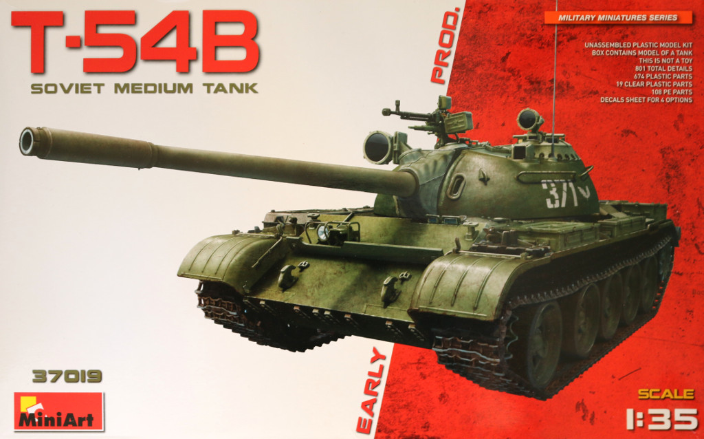Box-2 T-54B Early Production Miniart 1:35 (#37019)