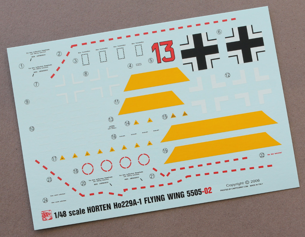 Decals-1 Horten Ho229A-1 Flying Wing 1:48 Dragon (#5505)