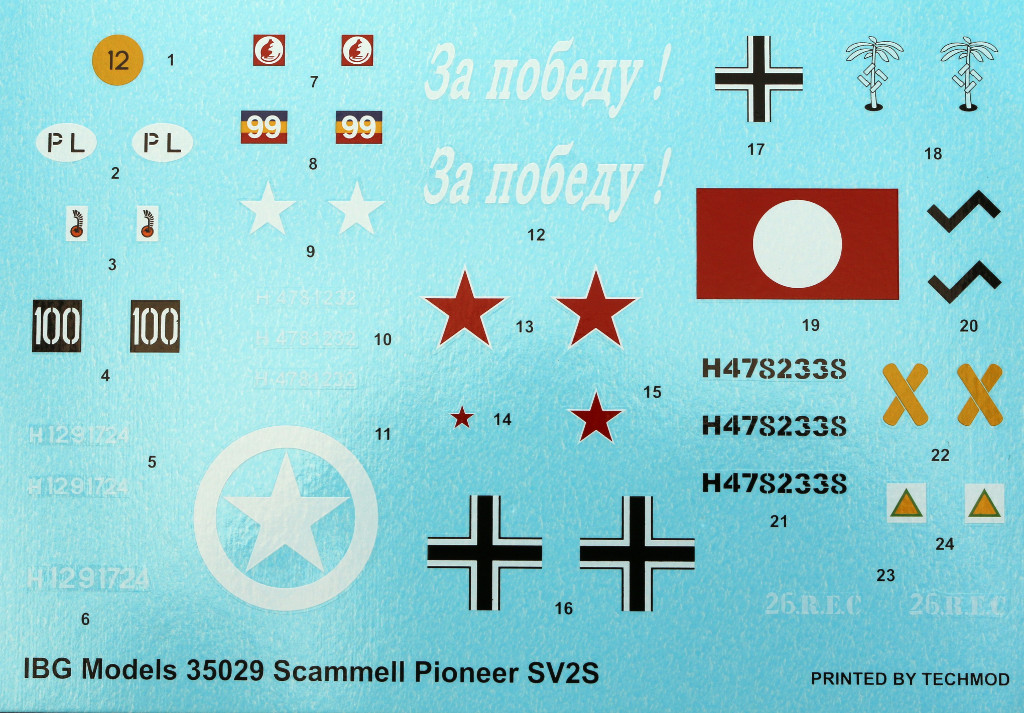 Decals Scammell Pioneer SV2S Heavy Breakdown Tractor IBG Models 1:35 (#35029)