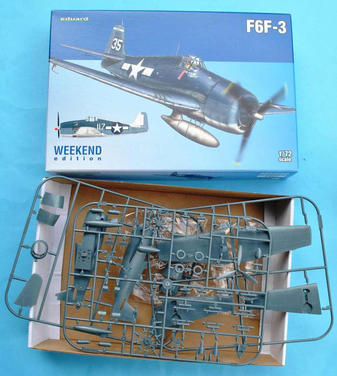 Eduard-7441-F6F-3-8 F5F-3 Hellcat WEEKEND von Eduard 1:72 #7441