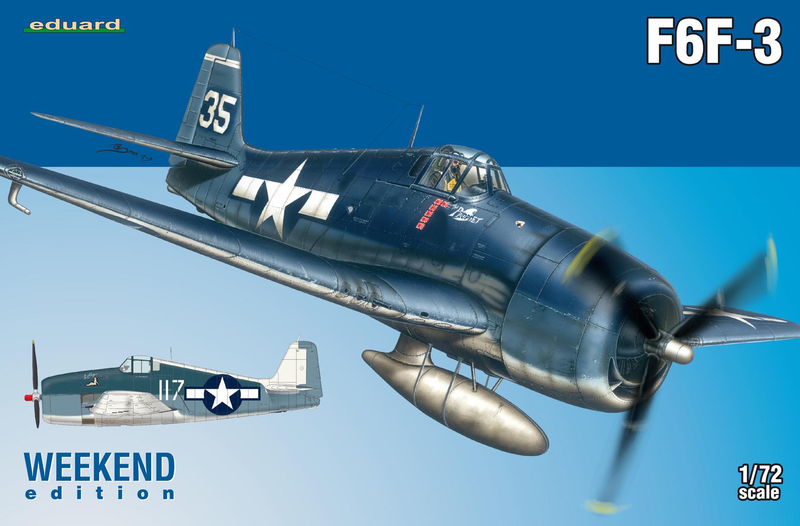 Eduard-7441-F6F-3-Deckelbild F5F-3 Hellcat WEEKEND von Eduard 1:72 #7441